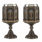 Bronze Cathedral Wall Chalices, Set of 2