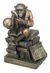 Bronze Chimpanzee Scholar Trinket Box