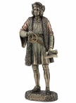 Bronze Christopher Columbus Standing Sculpture