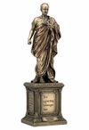 Bronze Cicero Standing on a Pedestal Roman Sculpture