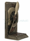 Bronze Copper Steampunk Propeller Bookend