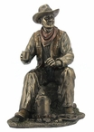 Bronze Cowboy Coffee Break Sculpture