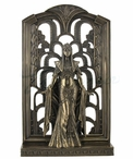 Bronze Egyptian Queen in Art Deco Style Background Sculpture