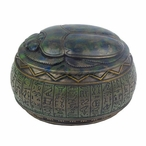 Bronze Egyptian Scarab Trinket Box