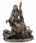Bronze Frigga Norse Goddess of Love, Marriage and Destiny Sculpture