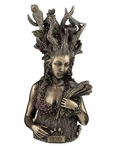 Bronze Gaia Greek Primordial Goddess of Earth Sculpture