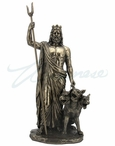 Bronze Hades Greek God of the Underworld Sculpture