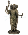 Bronze Hecate Greek Goddess of Magic Sculpture