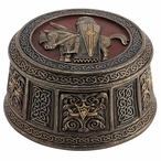 Bronze Isle of Lewis Knight Trinket Box