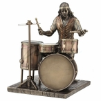 Bronze Jazz Band Drummer Player Sculpture