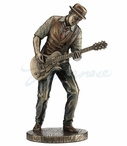 Bronze Jazz Band Guitar Player Sculpture