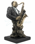 Bronze Jazz Band Saxophone Bust Music Sculpture
