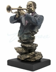 Bronze Jazz Band Trumpet Bust Music Sculpture