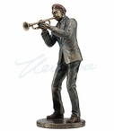 Bronze Jazz Band Trumpet Player Sculpture