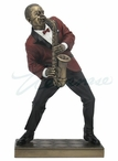Bronze Jazz Male Alto Saxophone Player Sculpture