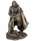 Bronze King Arthur and the Sword in the Stone Letter Opener Sculpture