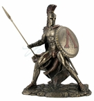 Bronze Leonidas Greek Hero King Greek Sculpture