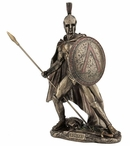 Bronze Leonidas with Spear and Shield Sculpture