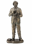 Bronze Mark Twain Standing Sculpture