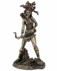 Bronze Medusa the Gorgon with Legs Sculpture