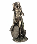 Bronze Norse God Freya Sculpture