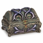 Bronze Octopus Mimic Chest Trinket Box