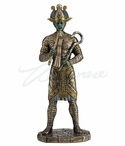 Bronze Osiris Egyptian God of Afterlife Sculpture