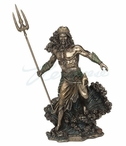 Bronze Poseidon God of the Sea Sculpture