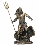 Bronze Poseidon Greek God of the Sea Sculpture