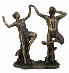 Bronze Satyrs Dancing with a Nymph Greek Sculpture