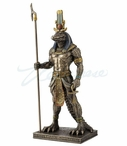 Bronze Sobek Egyptian God of the Nile Sculpture