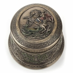 Bronze St George Slaying the Dragon Trinket Box