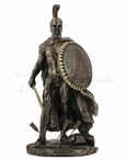 Bronze Standing Leonidas Greek Sculpture