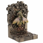 Bronze Steambee Steampunk Bee Bookend by Brigid Ashwood