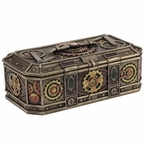 Bronze Steampunk Gears Trinket Box