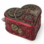 Bronze Steampunk Heart Trinket Box by Myles Pinkney