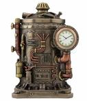 Bronze Steampunk Mysterious Container Clock Trinket Box