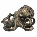 Bronze Steampunk Octopus Secret Trinket Box