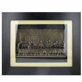 The Last Supper Wall Art bronze the last supper in wooden frame religious wall art - wall
