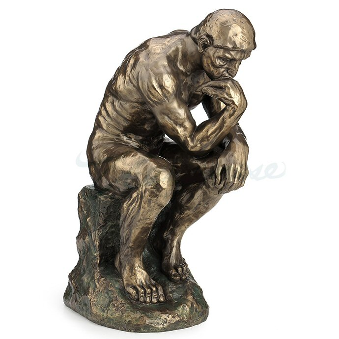 bronze the thinker sculpture statue veronese collection