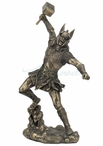 Bronze Thor Norse God of Thunder Fantasy Sculpture
