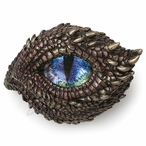 Bronze Throny Scale Dragon Eye Trinket Box