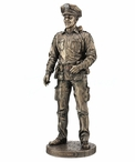 Bronze to Protect and to Serve Policeman Sculpture