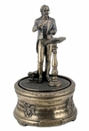 "Bronze Verdi's ""La Donna E Mobile"" Music Box Sculpture"