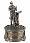 "Bronze Wagner's ""Bridal Chorus"" Music Box Sculpture"
