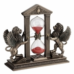 Bronze Winged Lions Gold Sand Timer Hourglass