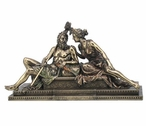 Bronze Zeus and Hera Sitting Together Greek Sculpture