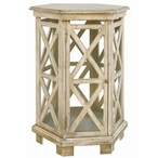 Brookline Hexagon MDF and Wood Accent Table