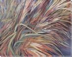 Brookside Grasses Wrapped Canvas Giclee Print Wall Art