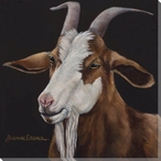 Brown and White Goat Wrapped Canvas Giclee Print Wall Art